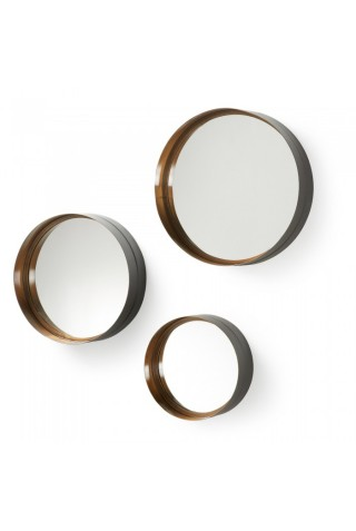 set de espejos redondos minimalista
