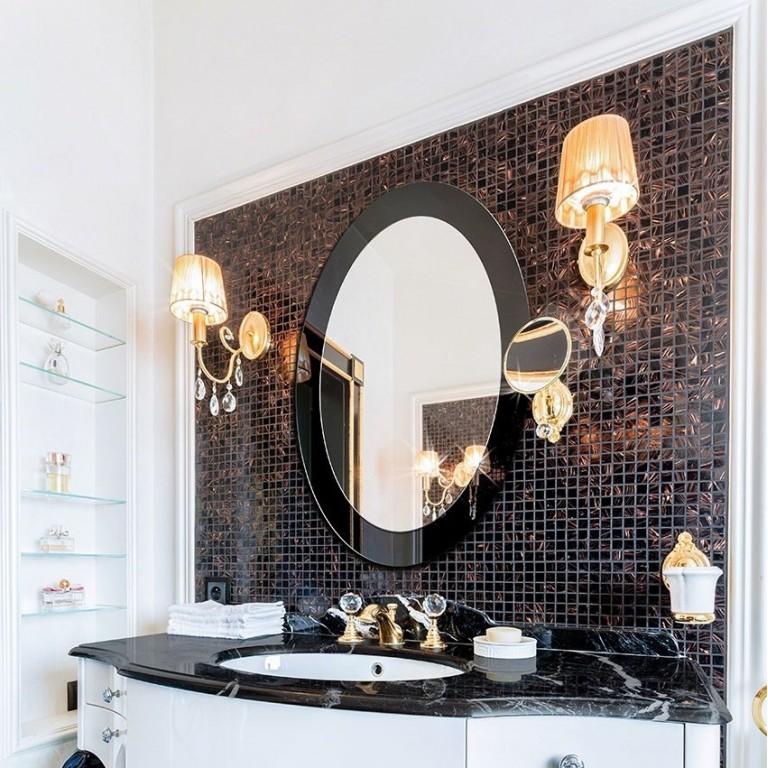 Espejo Ovalado Marco Cristal Lacobel Centro Espejos