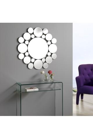 espejo con forma circular decorativo