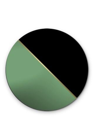 Espejo Redondo Decorativo Demi Green
