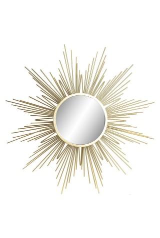 Espejo De Sol Dorado Vintage