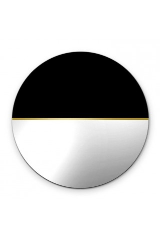 Espejo Redondo Decorativo Demi Silver
