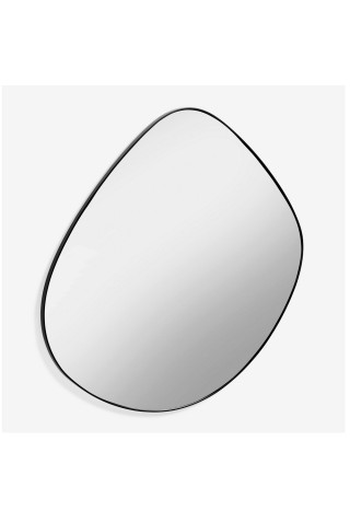 Espejo Irregular Marco de Metal Negro
