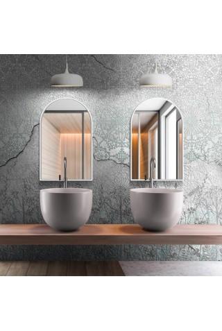Espejo Arco Minimalista Marco Color Blanco