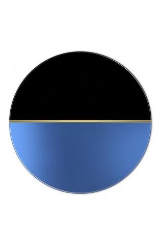 Espejo Redondo Decorativo Demi Blue