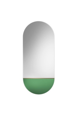 Espejo Ovalado Decorativo Novi Green