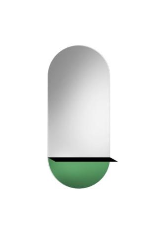 Espejo Decorativo Novi Shelf Green
