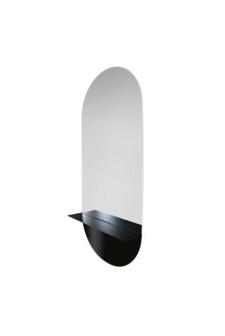 Espejo Ovalado Con Estante Novi Shelf Blaco