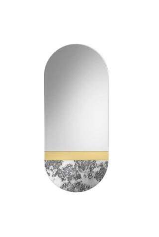 Espejo Ovalado Envejecido Corrosi Gold