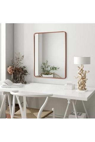 Espejo Escandinavo Con Marco Color Cobrizo