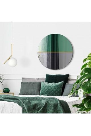 Espejo Redondo Decorativo Verde Botella