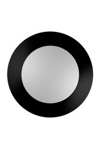 Espejo Redondo Marco Negro