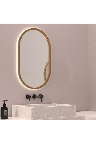 Espejo Ovalado Retroiluminado Marco Colores