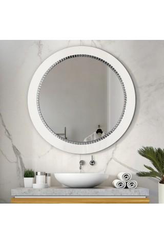 Espejo Redondo Decorativo Bracelet Blanco
