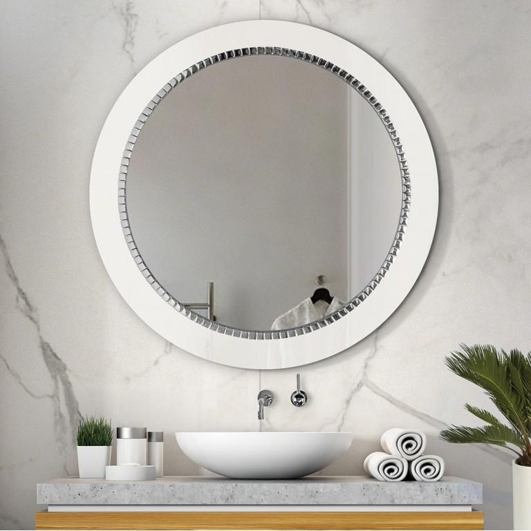 Espejo Redondo Baño Bracelet Blanco