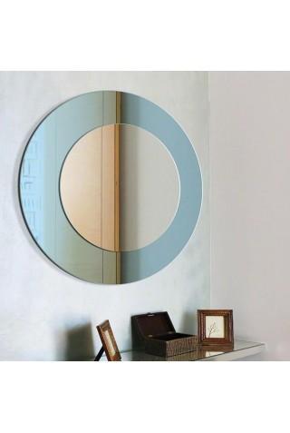 Espejo Redondo Modern Line Azul