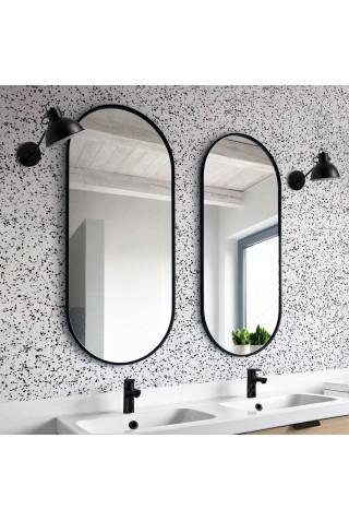 Espejo Minimalista Ambient Slim Negro