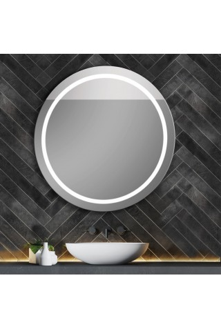 Espejo Redondo Con Luz LED Integrada