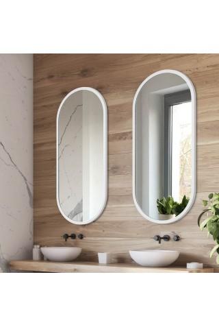 Espejo Moderno Minimalista Ambient Blanco