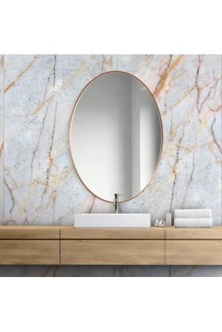 Espejo Ovalado Escandinavo Scandi Slim Cobre