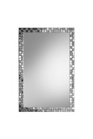 Espejo Decorativo Moderno Plateado Aurea Slim