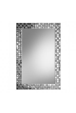 Espejo Moderno Marco Plateado Aurea SQ